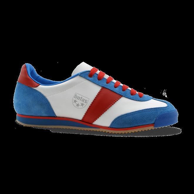 d5f26c08cfa nohejbalová obuv Botas classic bílá modrá červená - Domisport.cz
